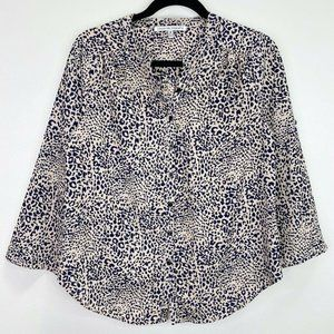 Collective Concepts Animal Print Button Up Blouse